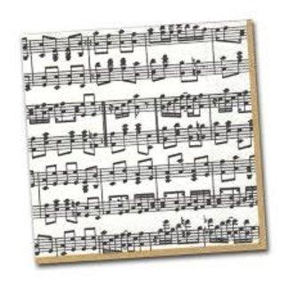 Caspari Caspari Cocktail Napkin- Musical Notes