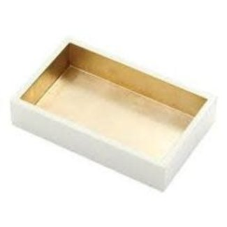Caspari Caspari Hostess Napkin Holder - Ivory/Gold