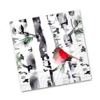 Boston International - Luncheon Napkin - Bird In Birch