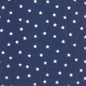 Boston International Luncheon Napkins   - Little Stars Dark Blue