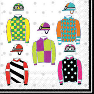Boston International Cocktail Napkin - Jockey silks