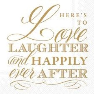 Boston International - Love , Laughter and Happily Ever After Cocktail Napkin