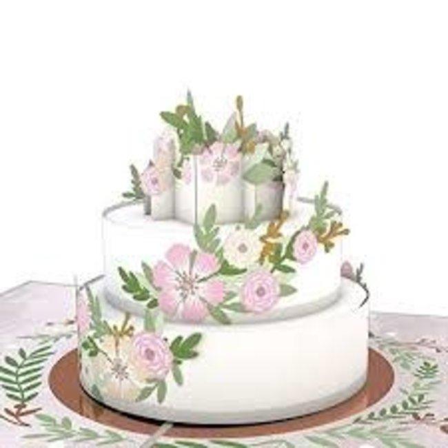 LovePOP Love Pop Greeting Card - Wedding Cake