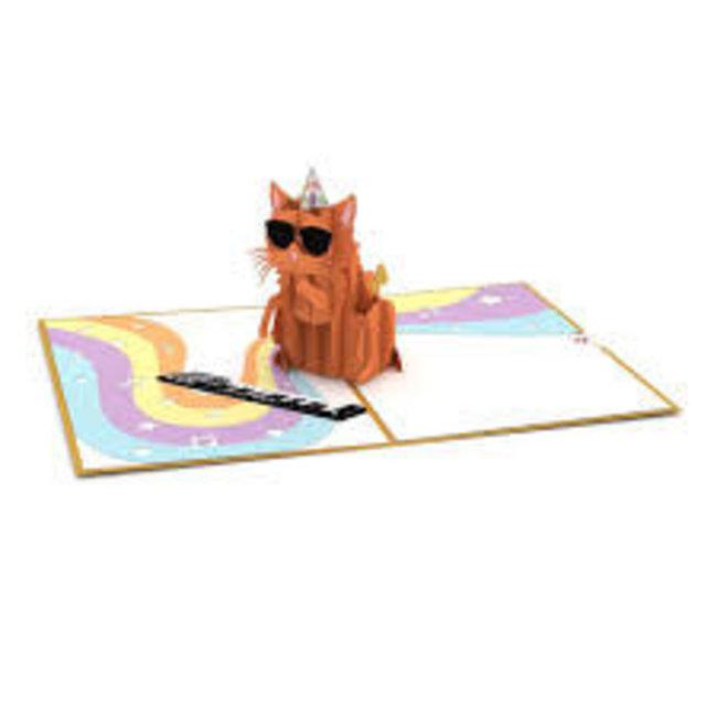 LovePOP Love Pop Greeting Card - Party Cat Birthday Card
