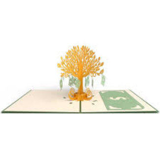 LovePOP Love Pop Greeting Card- Money Tree money holder