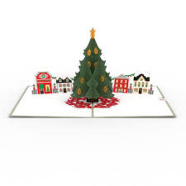 LovePOP Love Pop Greeting Card - Christmas Tree Village