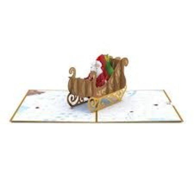 LovePOP Love Pop Greeting Card-  Night Before Christmas Santa Sleigh