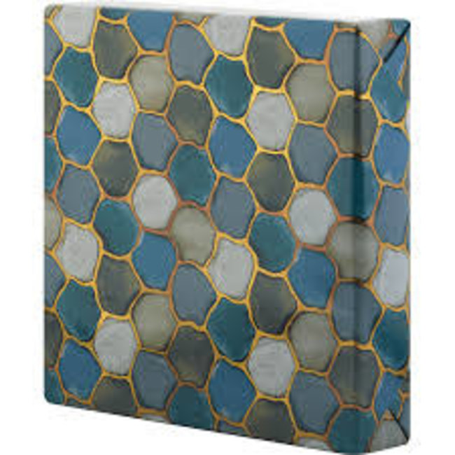 Wrapping Paper 5ft Roll- Agate Honeycomb