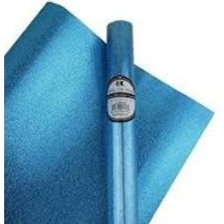 Wrapping Paper 8ft Roll- Glitter Glam Sky Blue