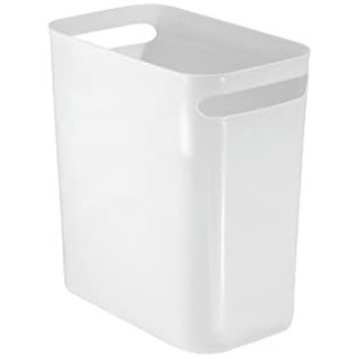 "InterDesign Una Waste Can 12"" - White"