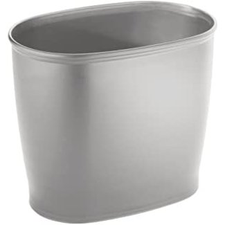 Interdesign Kent Oval Waste Can- Silver
