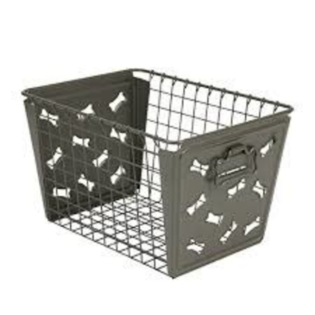 Spectrum Spectrum - Macklin Storage Basket - Bones Industrial Grey