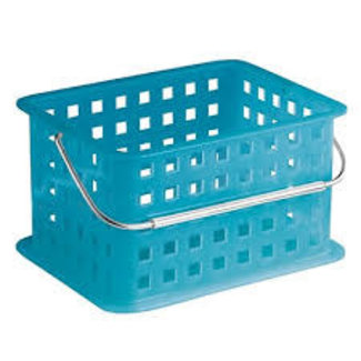 InterDesign Small Spa Basket -Water Blue