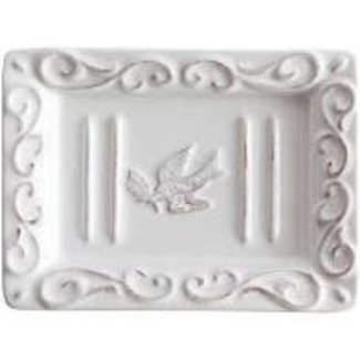 European Soaps Pre de Provence Soap Dish - Elegant Dove