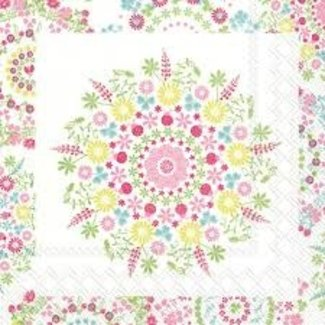 Cocktail Napkin- Lilly white/ pink
