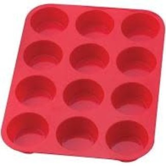 Hic Mrs. Anderson's -Silicone 12 Cup Muffin Pan