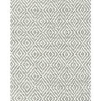 Dash & Albert Indoor Outdoor Rug 4x6 - Petit Diamond Light Blue/Ivory