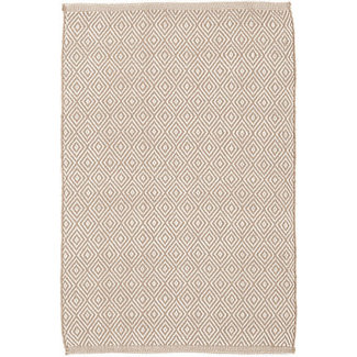 Dash & Albert Indoor Outdoor Rug 4x6- Petit Diamond Khaki/Ivory