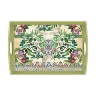 "Michel Design Works MDW Rectangular 20"" Wooden Large Tray- Tuscan Grove"