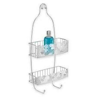 InterDesign Shower Caddy with Pebblz - Clear & SS