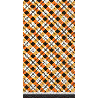 Boston International Hostess Napkin- Plaid Pumpkins