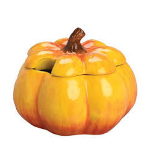 Boston International Soup Tureen with Wooden Ladle- Pumpkin Calabaza