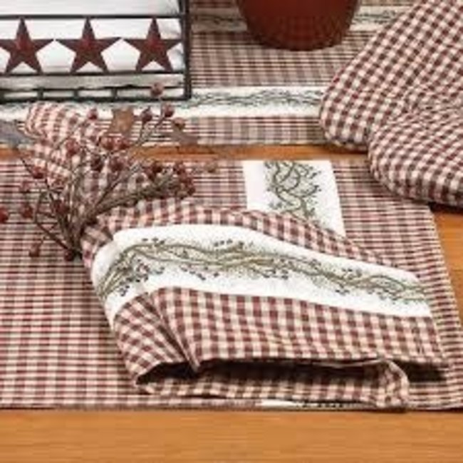 Country Home Country Home 18'x18' Napkin - Berry Vine