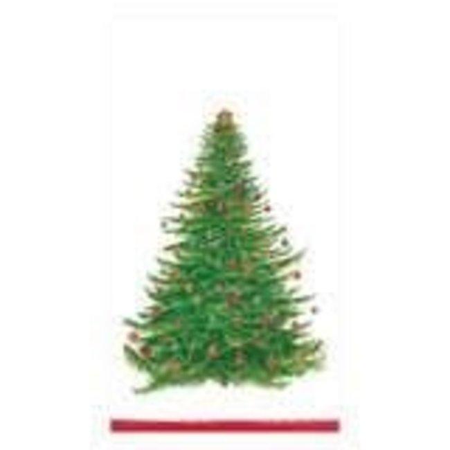 Caspari Caspari Hostess Napkin - Glittering Tree