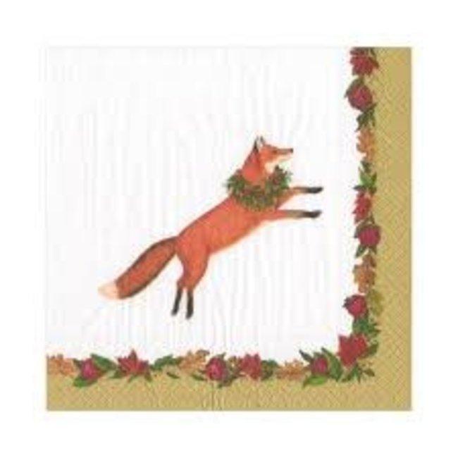 Caspari Caspari Luncheon Napkin - Leaping Fox