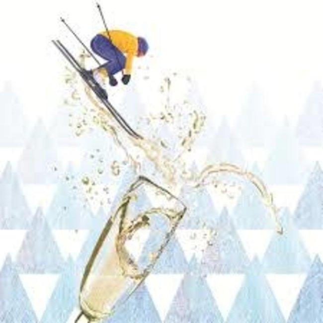 PPD PPD Beverage Napkins - Apres Ski Champagne