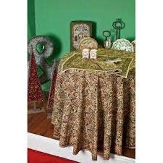 """Petal Pushing Napkin 18""""  - Santa Fe Kalamkari"""
