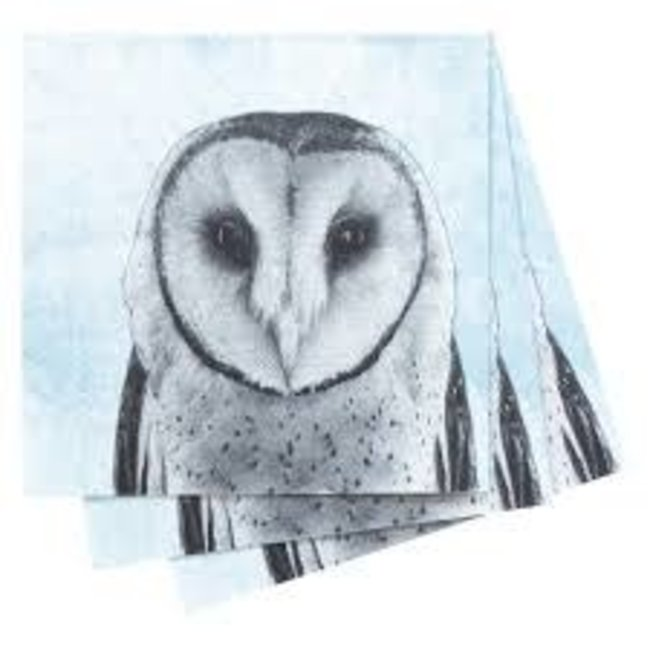 RockFlowerPaper RockFlowerPaper Cocktail Napkin - Snowy Owl
