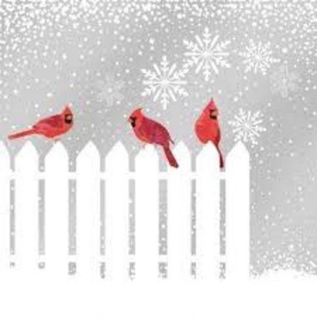 PPD PPD Luncheon Napkin- Snowfall Cardinals