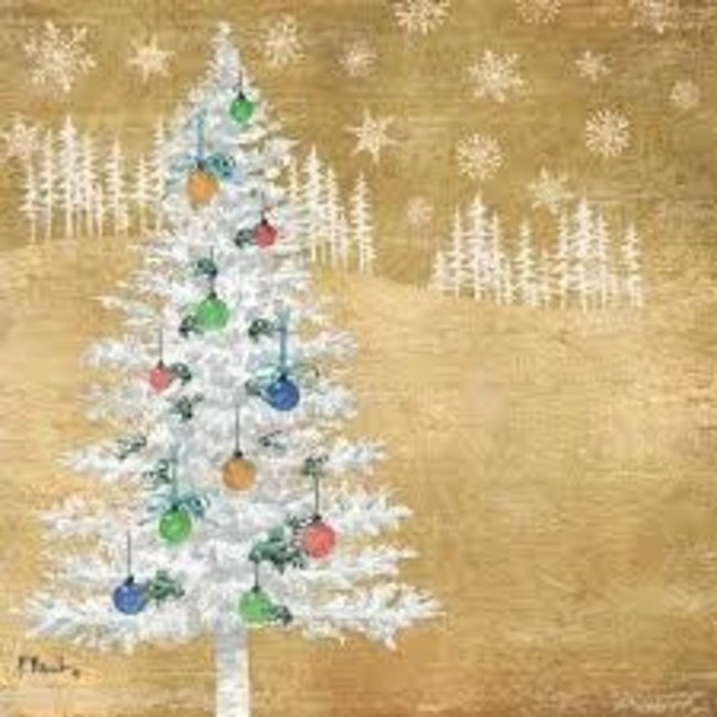 PPD Luncheon Napkin - Woodland Tree Gold