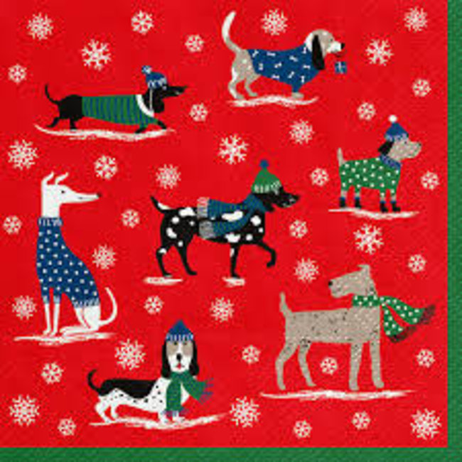 Abbott Luncheon Napkin - Winter Pack Dogs