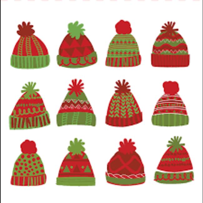 Harman Harman Cocktail Napkins- Winter Hats