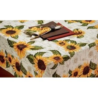 "DII Tablecloth 52""x52"" - Rustic Sunflower"