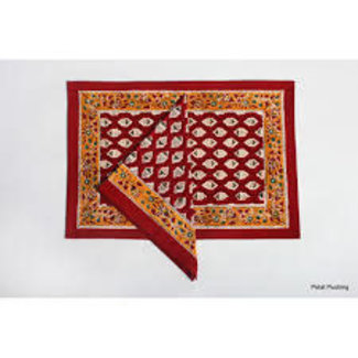 Petal Pushing Placemat - Red Ace