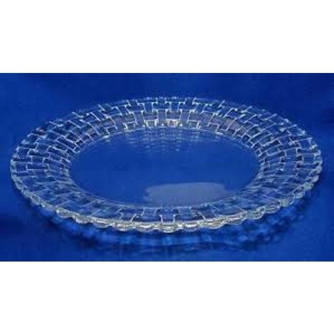 Nachtmann Nachtmann Charger 32 cm- Set of 2- Bossa Nova (Glass Basket Weave)