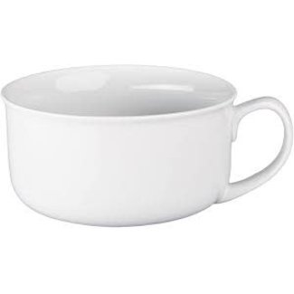 BIA Handled Soup Bowl- White Ware 20 oz