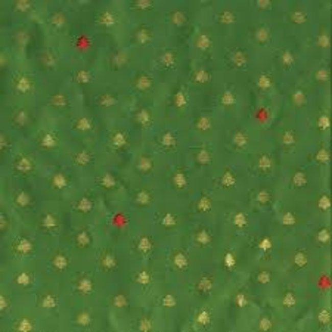 Caspari Caspari Wrapping Paper 8ft Roll- Tiny Trees