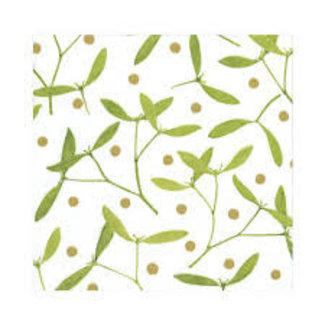 Caspari Caspari Wrapping Paper 8ft Roll- Mistletoe White