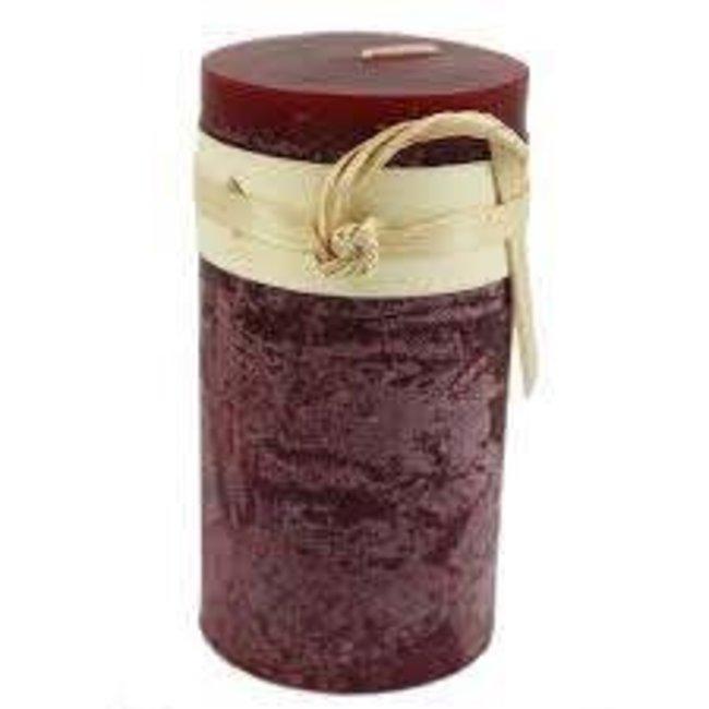 Vance Kitira 2x4 Pillar Candle- Wine