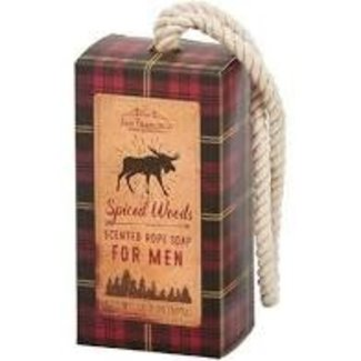 San Francisco Soap Company San Francisco Soap Company Soap on a Rope- Spiced Woods (Red Plaid Moose)