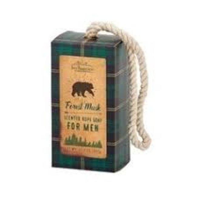 San Francisco Soap Company San Francisco Soap Company Soap on a Rope- Forest Musk (Green Plaid Bear)