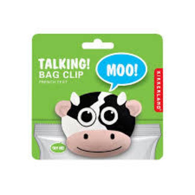 Kikkerland Kikkerland Talking Bag Clip-Cow
