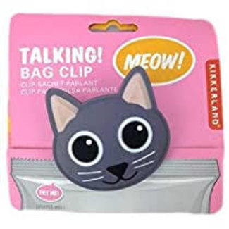 Kikkerland Kikkerland Talking Bag Clip- Cat