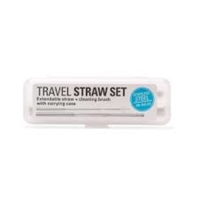 Kikkerland Kikkerland Travel Straw Set