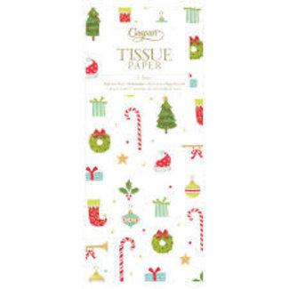 Caspari Caspari  Tissue Paper - Christmas Ditz