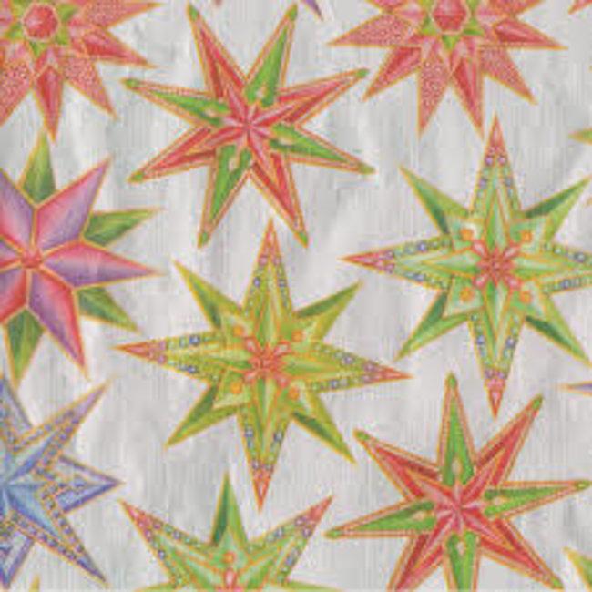 Caspari Caspari Tissue Paper- Jeweled Stars